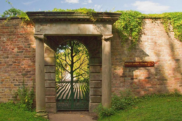 archway entrance to walled garden